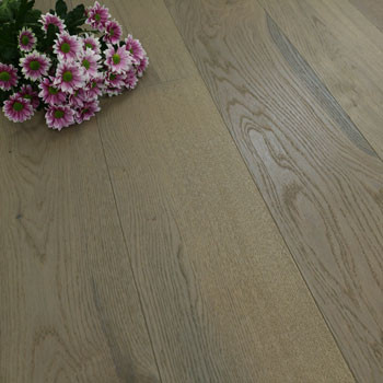190mm Engineered Brushed & Oiled Grey Haze Oak Wood Flooring 2.88m²
