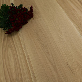 187mm Engineered Brushed & White Oiled Raw Natural Oak Wood Flooring 2.72m²