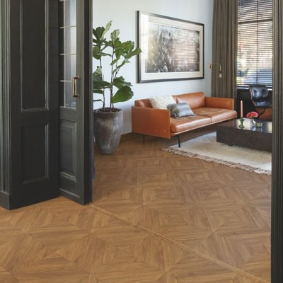 Quick-Step Impressive Patterns Chevron Oak Brown IPA4162 Laminate Flooring 1.901m²