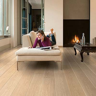 Quick-Step Largo White Varnished Oak Planks LPU1283 Laminate Flooring