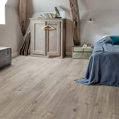 Quick-Step Livyn Pulse Click + Cotton Oak Grey with Saw Cuts PUCP40106 Vinyl Flooring