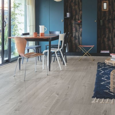 Quick-Step Livyn Pulse Click + Cotton Oak Cozy Grey PUCP40202 Vinyl Flooring