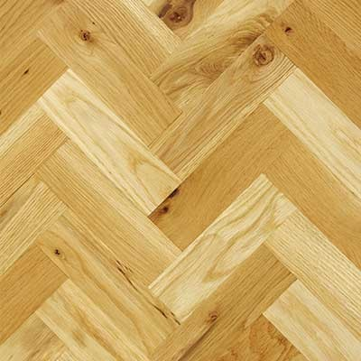 70mm Unfinished Natural Parquet Block Solid Oak Wood Flooring 0.96m²