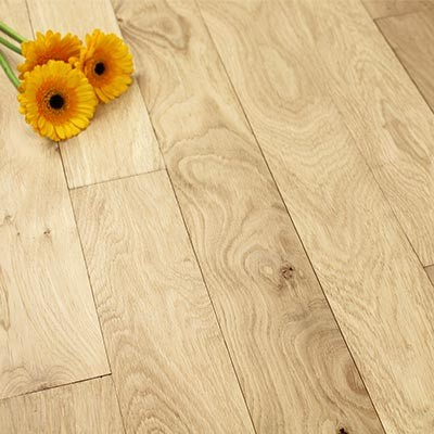 89mm Unfinished Natural Solid Oak Wood Flooring 1m²