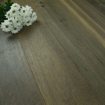 190mm Engineered Brushed & UV Oiled Harvest Grey Oak Wood Flooring 2.89m²