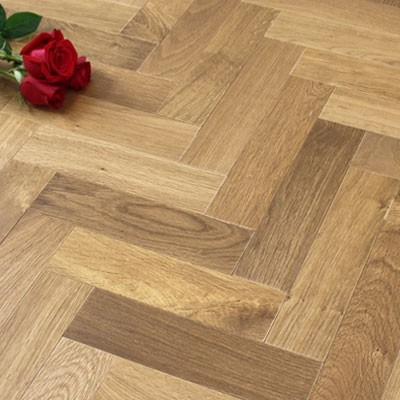 Engineered Oiled Light Smoked Oak Parquet Block Wood Flooring 0.588m²