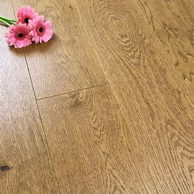 180mm Brushed & Lacquered Engineered Hazelnut Oak Wood Flooring 2.592m²