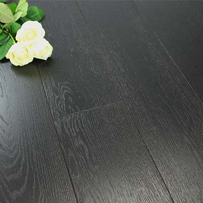 180mm Brushed & Lacquered Engineered Ebony Oak Wood Flooring 2.592m²