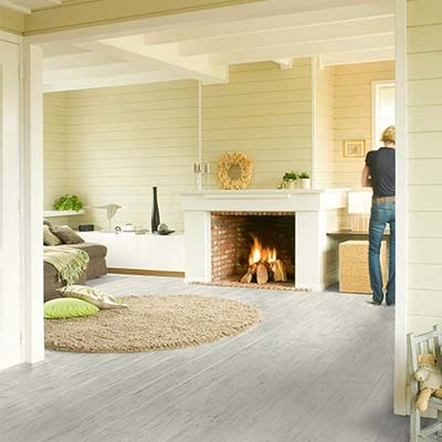 Quick-Step Perspective White Brushed Pine Planks 4 Groove UF1235 Laminate Flooring