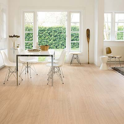 Quick-Step Perspective Wide Oak White Oiled Planks 4 Groove UFW1538 Laminate Flooring