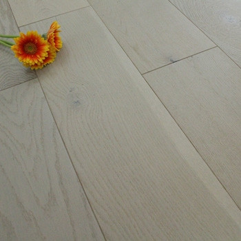 190mm UV Oiled Engineered Harbour Grey Oak Wood Flooring 2.51m²