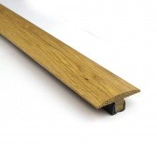 Oak T Door Bar Threshold Pre Finished & Un-Finished With Plastic Strip