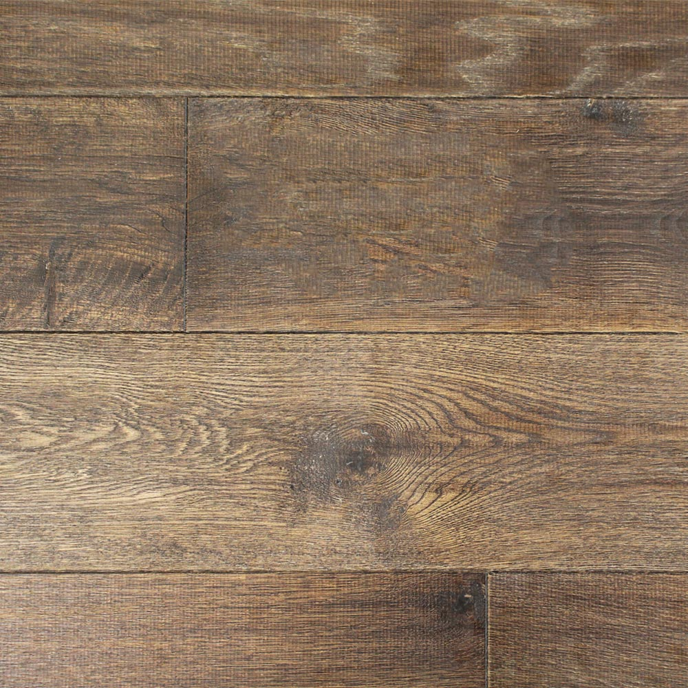 190mm Uv Oiled Engineered Tannery Brown Rustic Oak Wood Floo