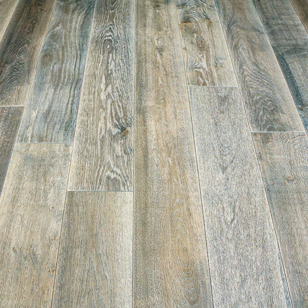 190mm Uv Oiled Engineered Wharf Grey Rustic Oak Wood Floorin