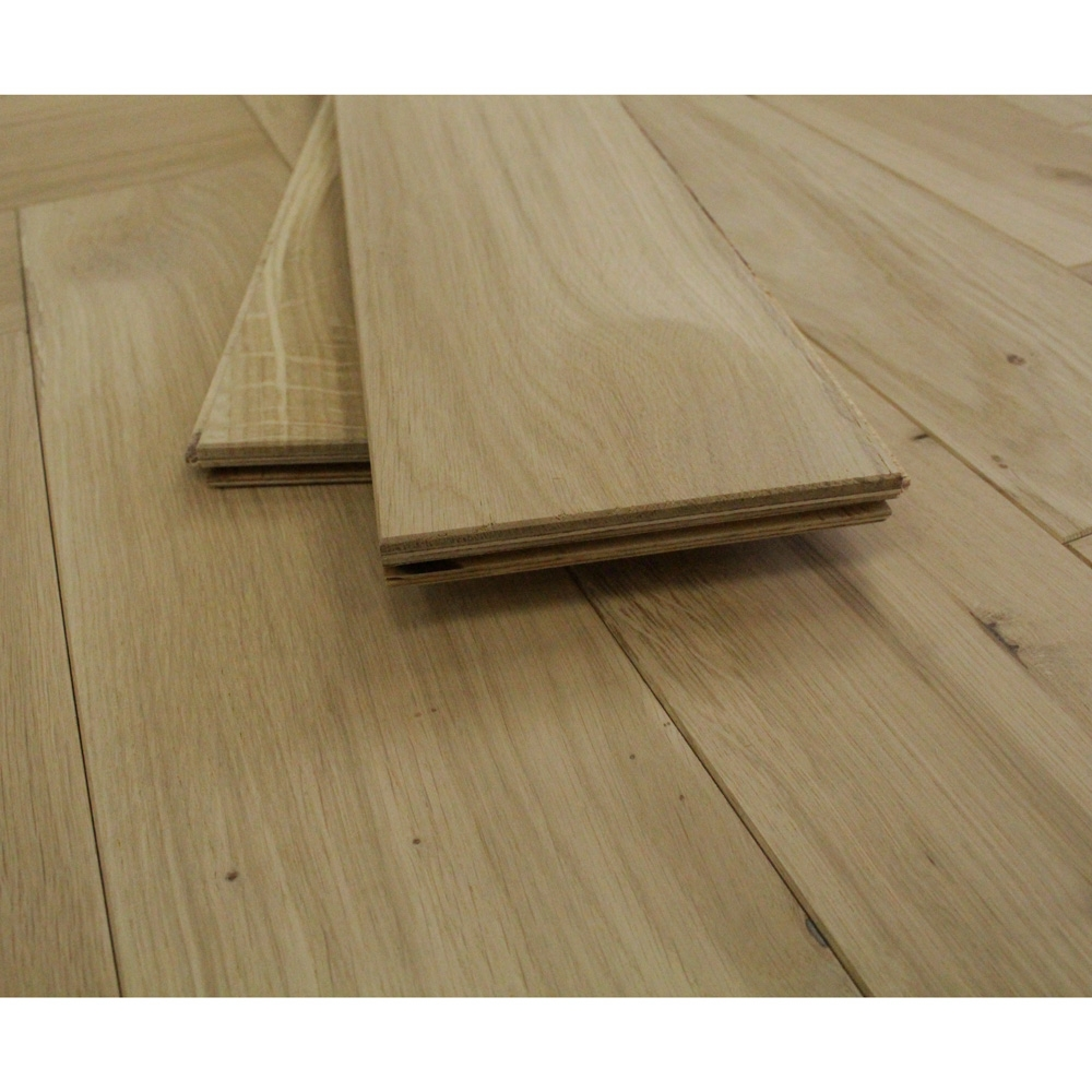 120mm Engineered Unfinished Parquet Block Oak Wood Flooring