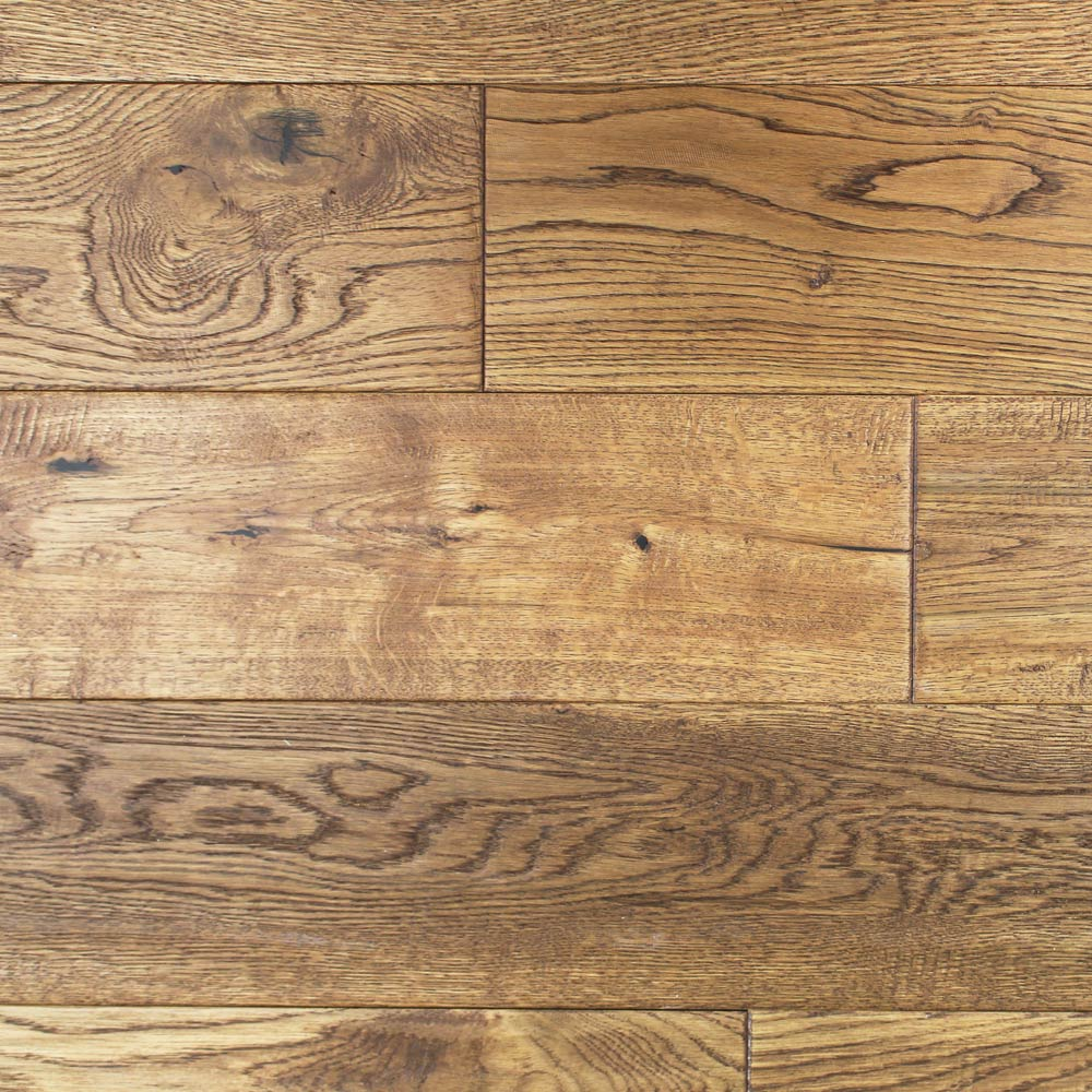 150mm Lacquered Wheat Solid Oak Wood Flooring 198m² 18mm S