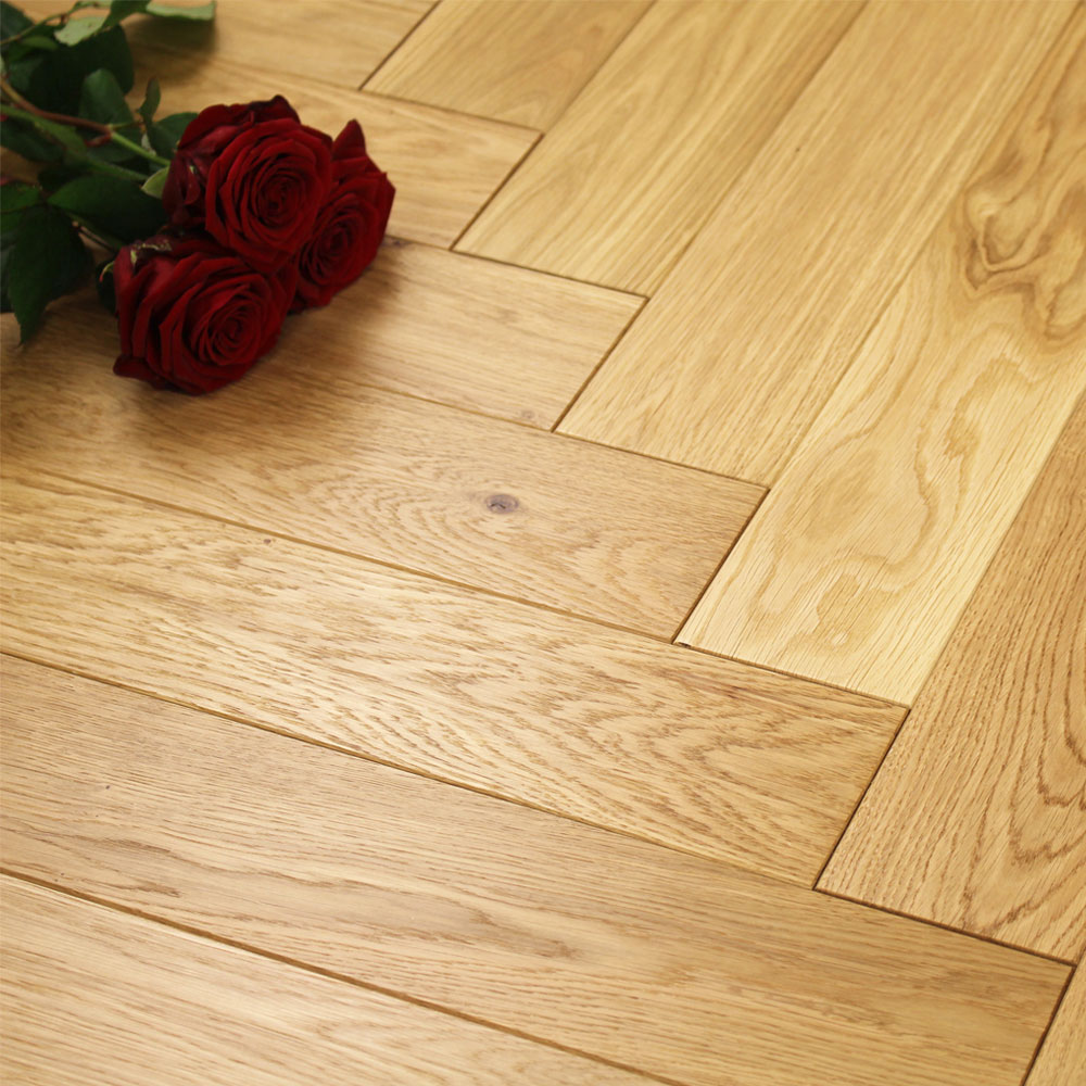 100mm Light Brushed Amp Oiled Engineered Oak Parquet Block