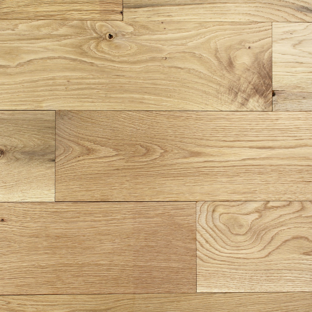 165mm Unfinished Natural Solid Oak Wood Flooring 1m 178 20mm S