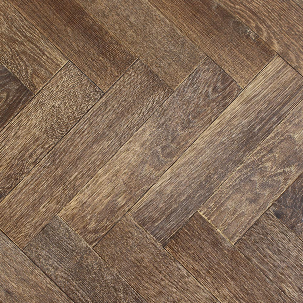 90mm Uv Oiled Engineered Conker Oak Parquet Block Wood Floor