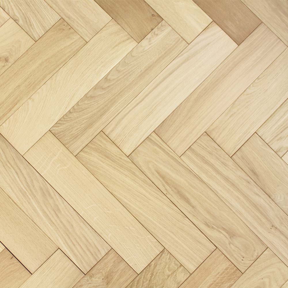 90mm unfinished engineered oak parquet block wood flooring 1 for Unfinished oak flooring