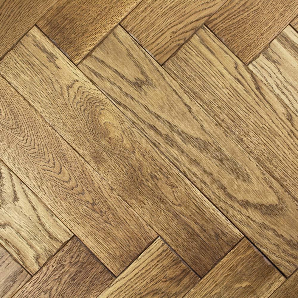 Engineered honey brushed oiled oak parquet block wood for Wood floor knocking block