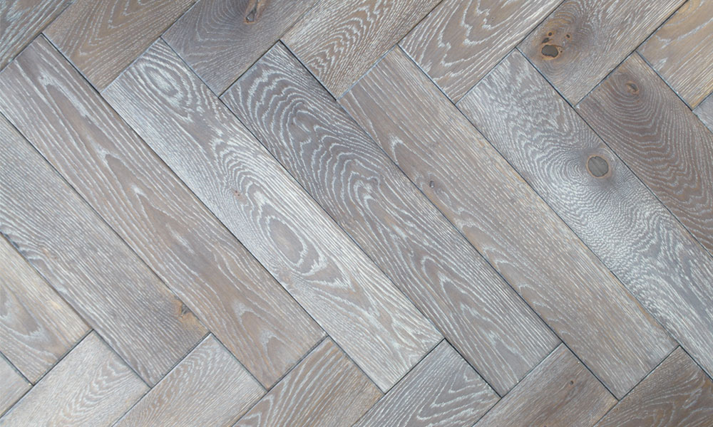100mm Brushed Amp Oiled Engineered Coal Grey Oak Parquet B