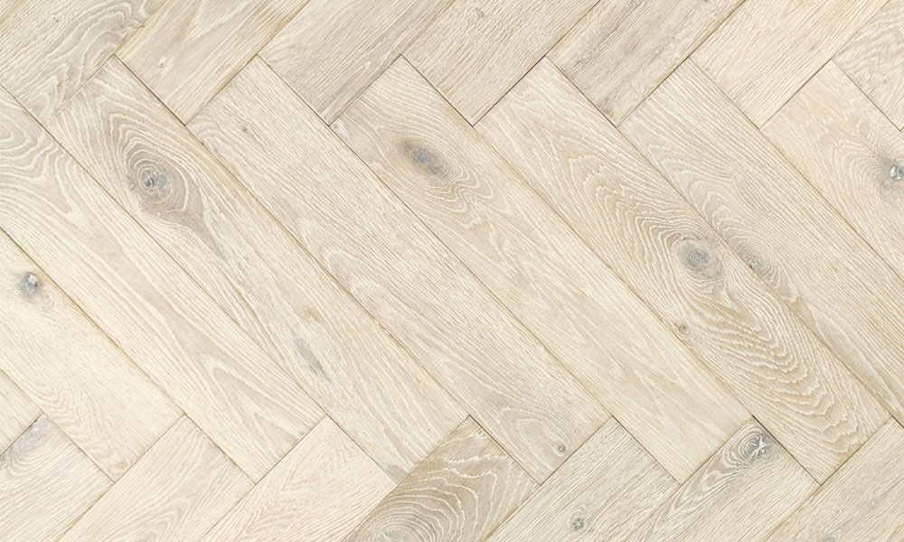 100mm Brushed Amp Oiled Engineered Ice White Oak Parquet B