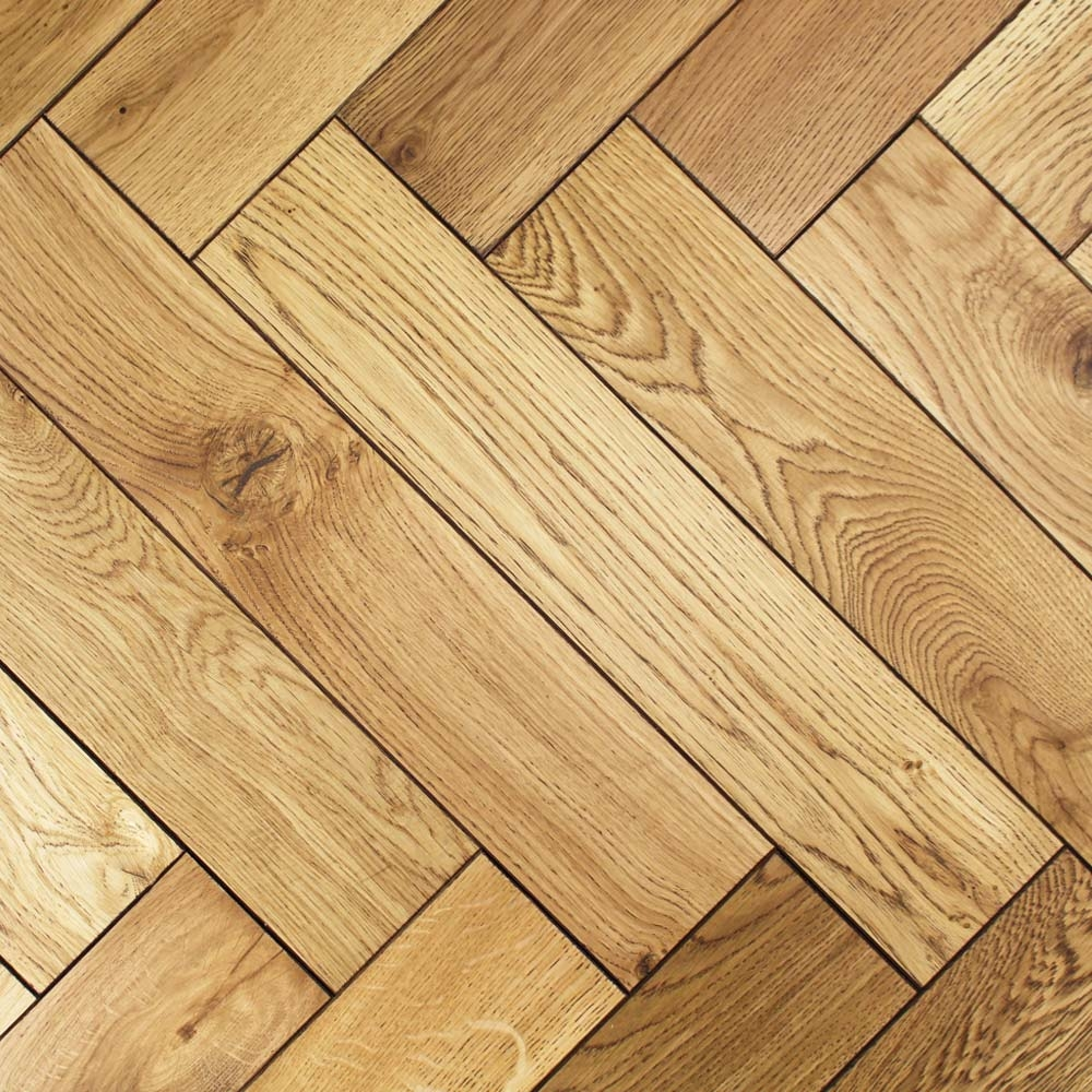 Engineered black uv oiled oak parquet block wood flooring