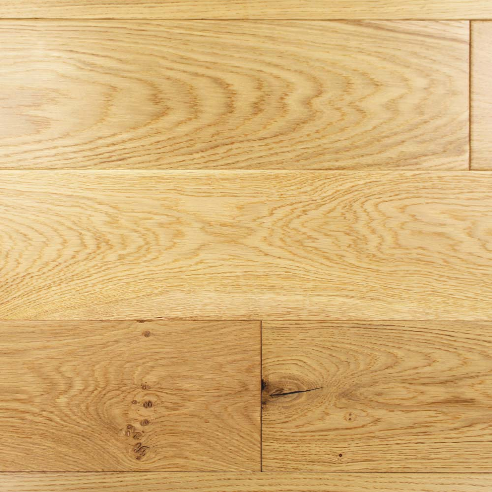 150mm Lacquered Engineered Rustic Oak Wood Flooring