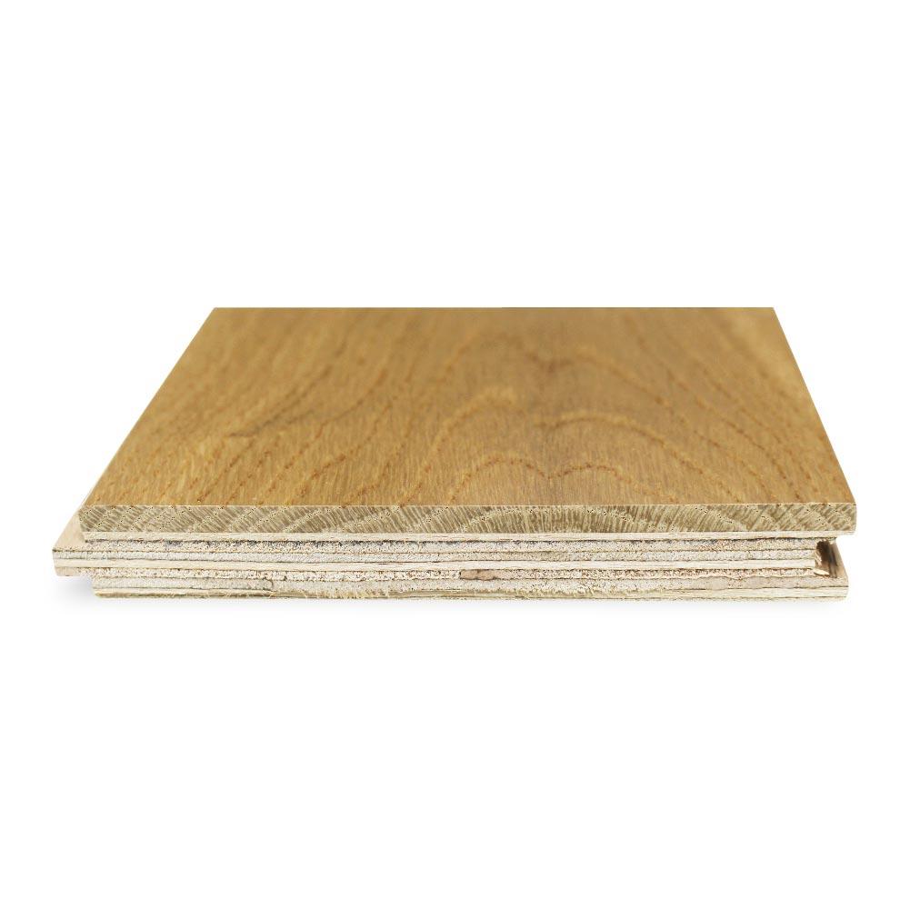 125mm Lacquered Engineered Rustic Oak Wood Flooring 2.2m²