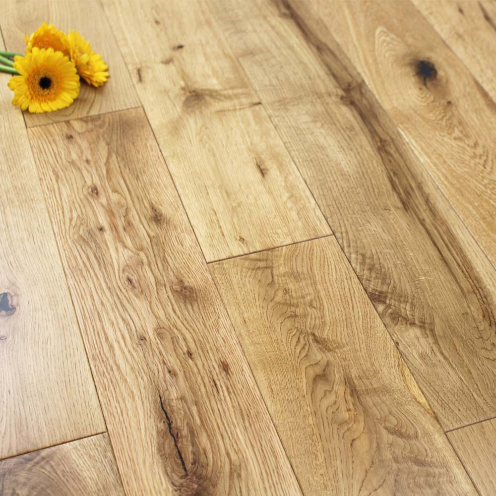 125mm Lacquered Engineered Rustic Oak Wood Flooring 2 2m 178