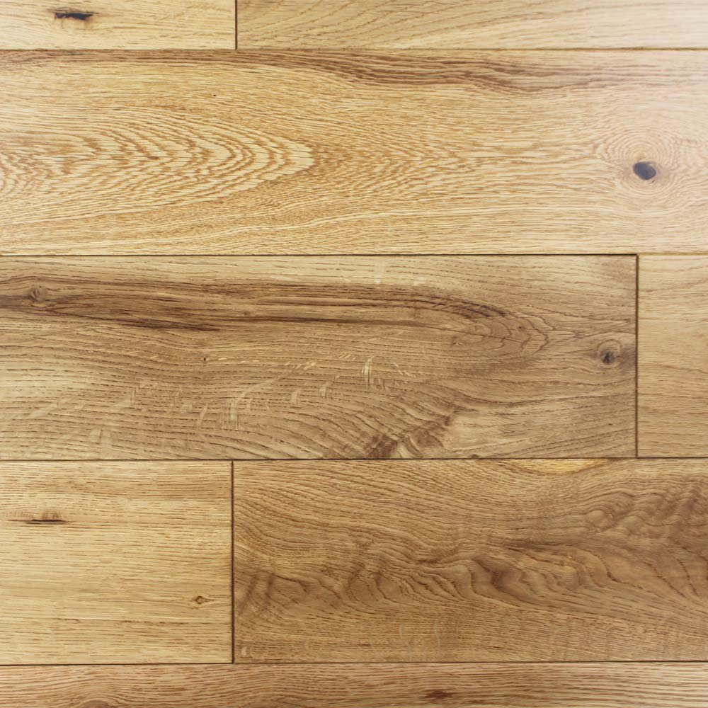 125mm Lacquered Engineered Rustic Oak Wood Flooring