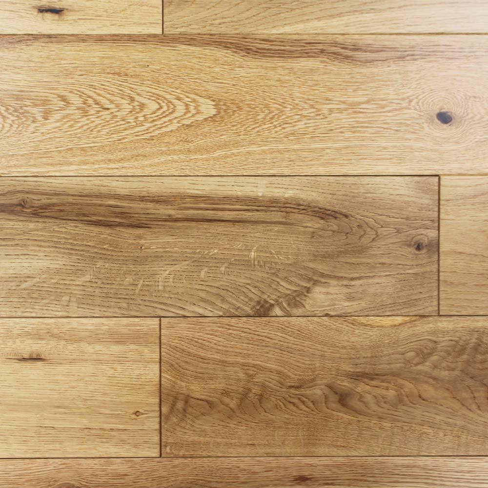 125mm Lacquered Engineered Rustic Oak Wood Flooring 2 2m² 4