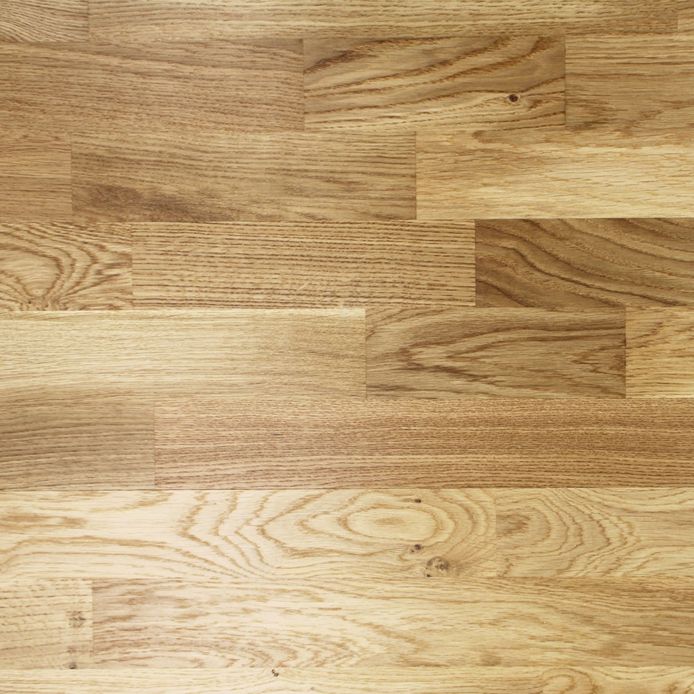 3 Strip Lacquered Engineered Rustic Oak Click Wood Flooring