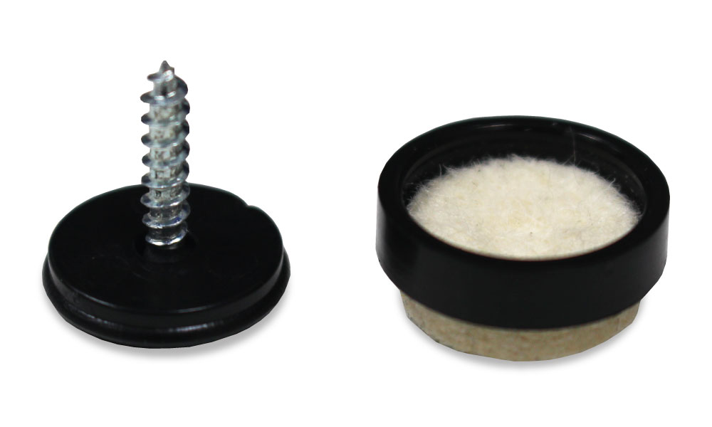 Screw In Felt Pads Set Of 4 Small 17mm Diameter Felt