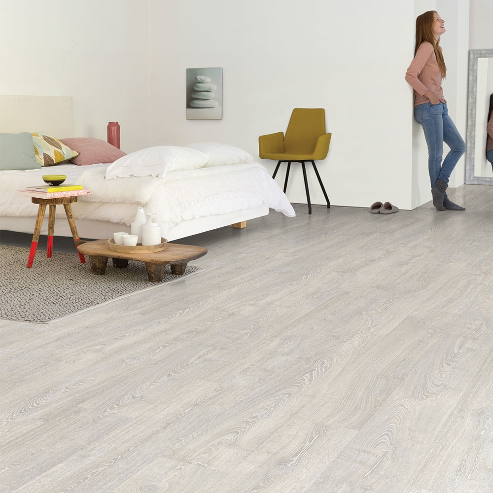 Quick step impressive patina classic oak grey planks im3560 for Quick step laminate flooring reviews uk