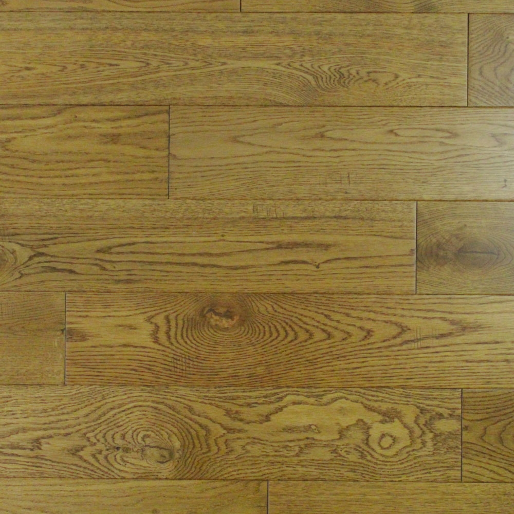 130mm Lacquered Solid Distressed Golden Oak 18mm Wood Floori