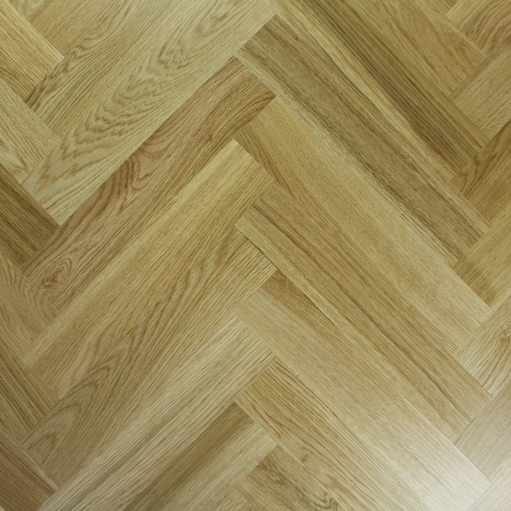 Engineered Prime Oak Lacquered Parquet Block Wood Flooring 1