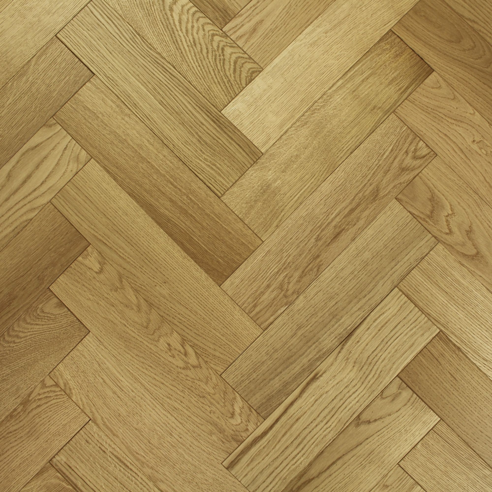 90mm Brushed Amp Lacquered Engineered Oak Parquet Block Wo