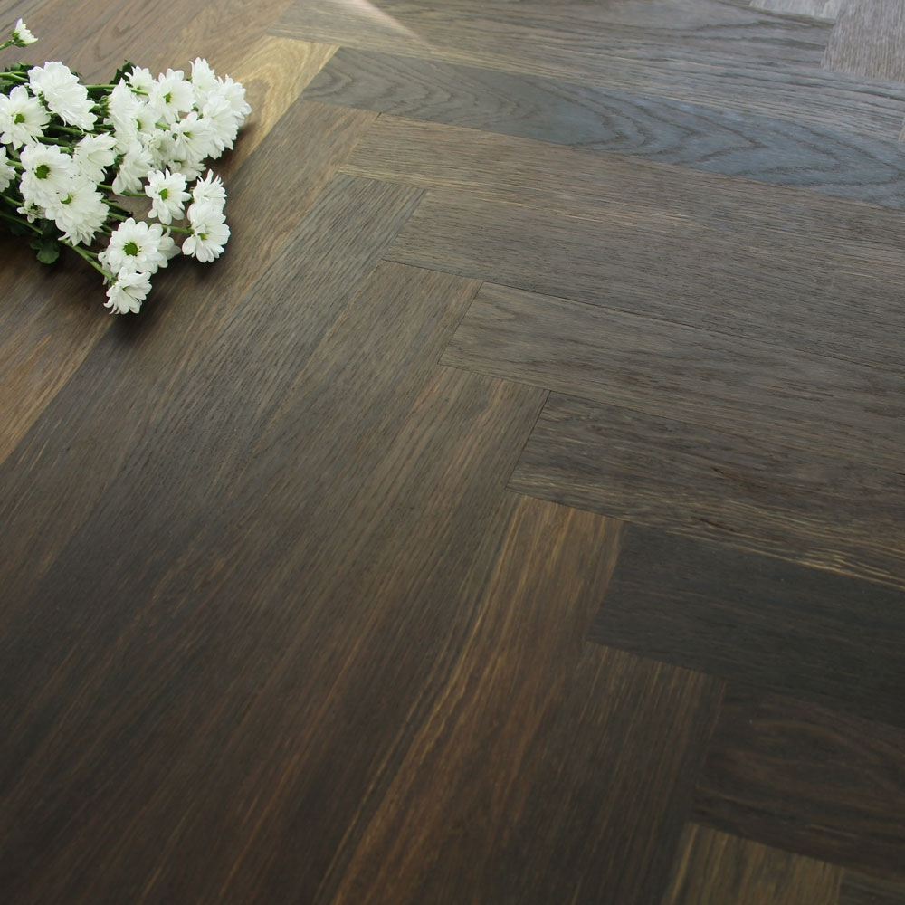 70mm Engineered Brushed Amp Oiled Burnt Clay Oak Parquet B