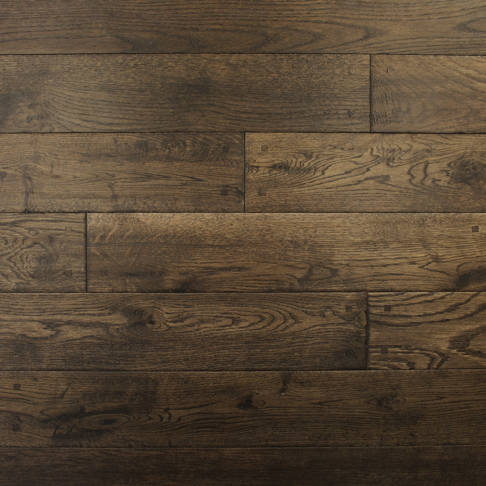 125mm Lacquered Antique Square Peg Solid Oak Wood Flooring 2