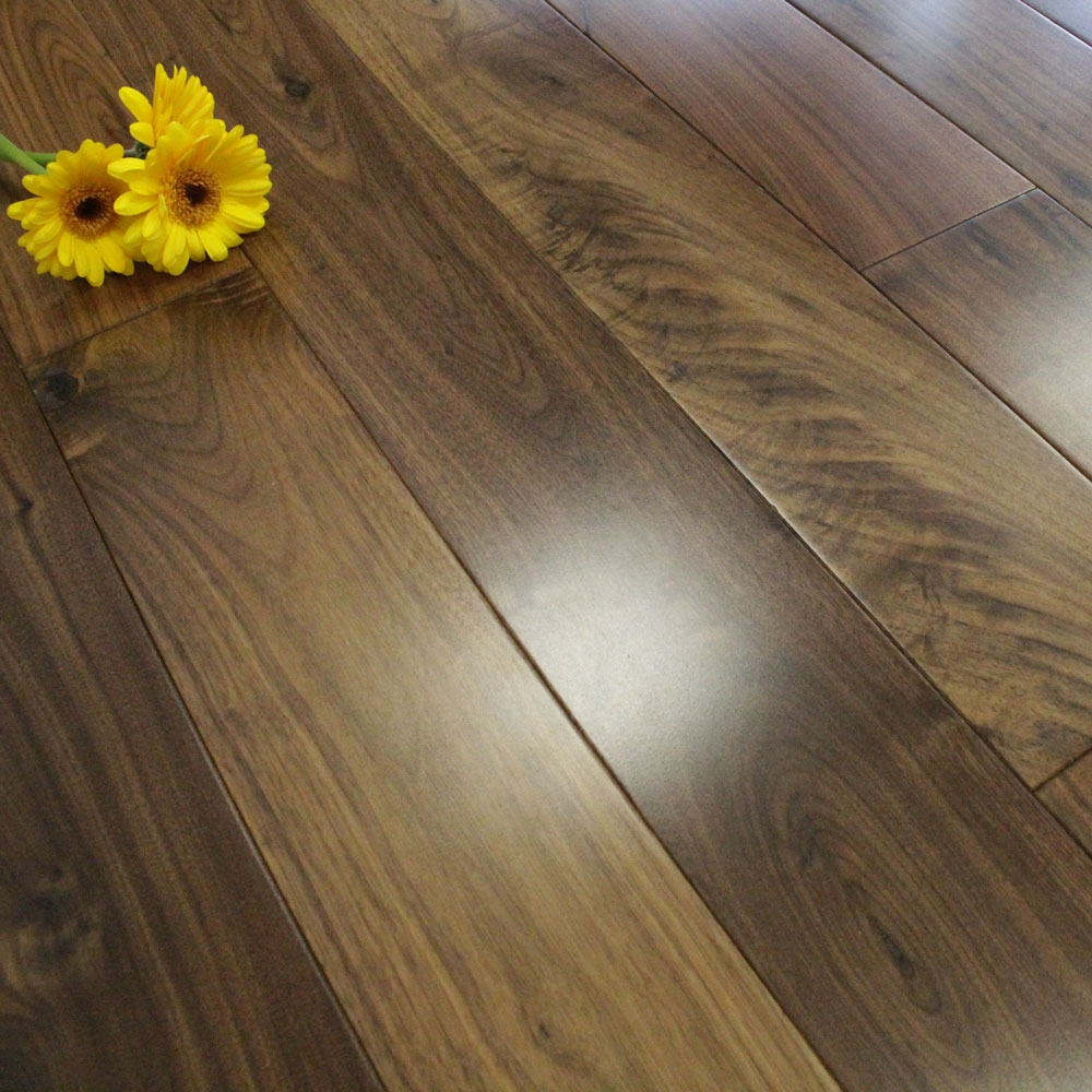 110mm Lacquered Solid American Walnut Wood Flooring 194m²
