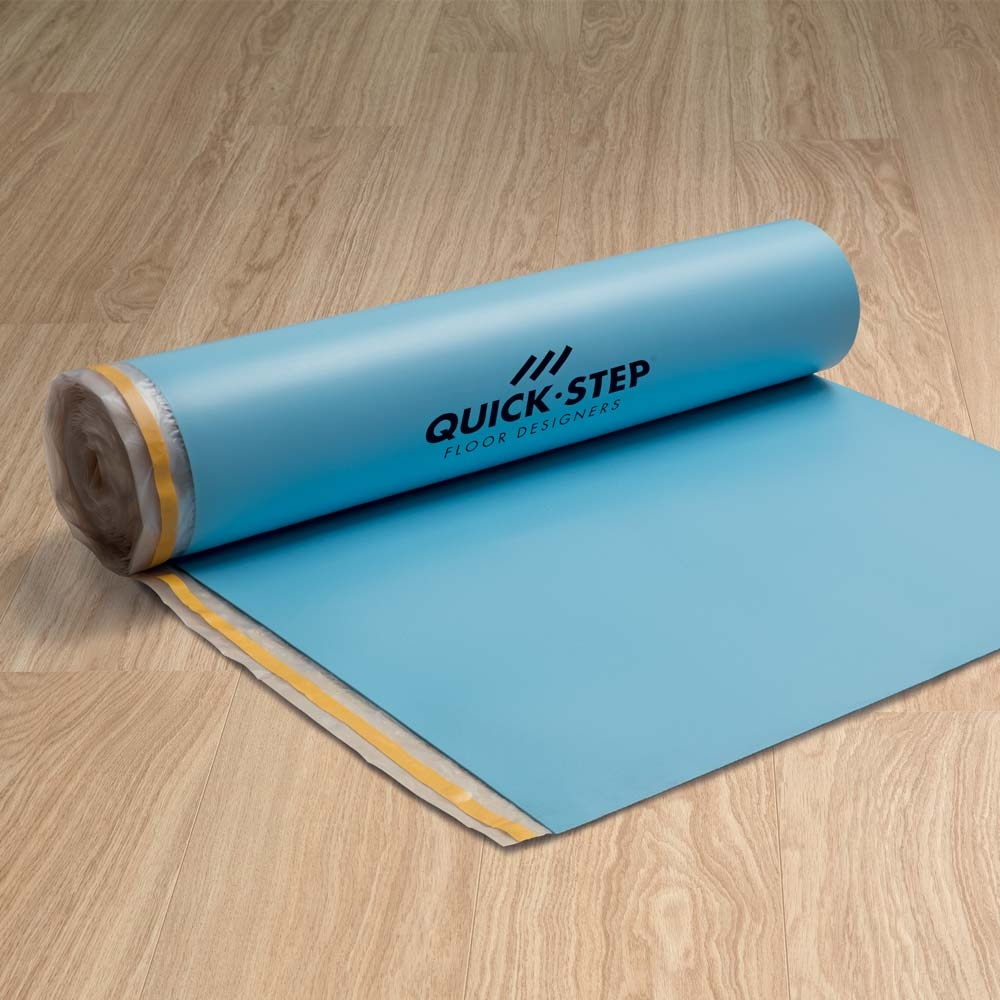 Quick step transitsound laminate underlay 15m quickstep la for Laminate flooring underlay