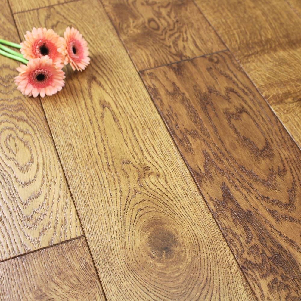 150mm Lacquered Butterscotch Solid Oak Wood Flooring 198m