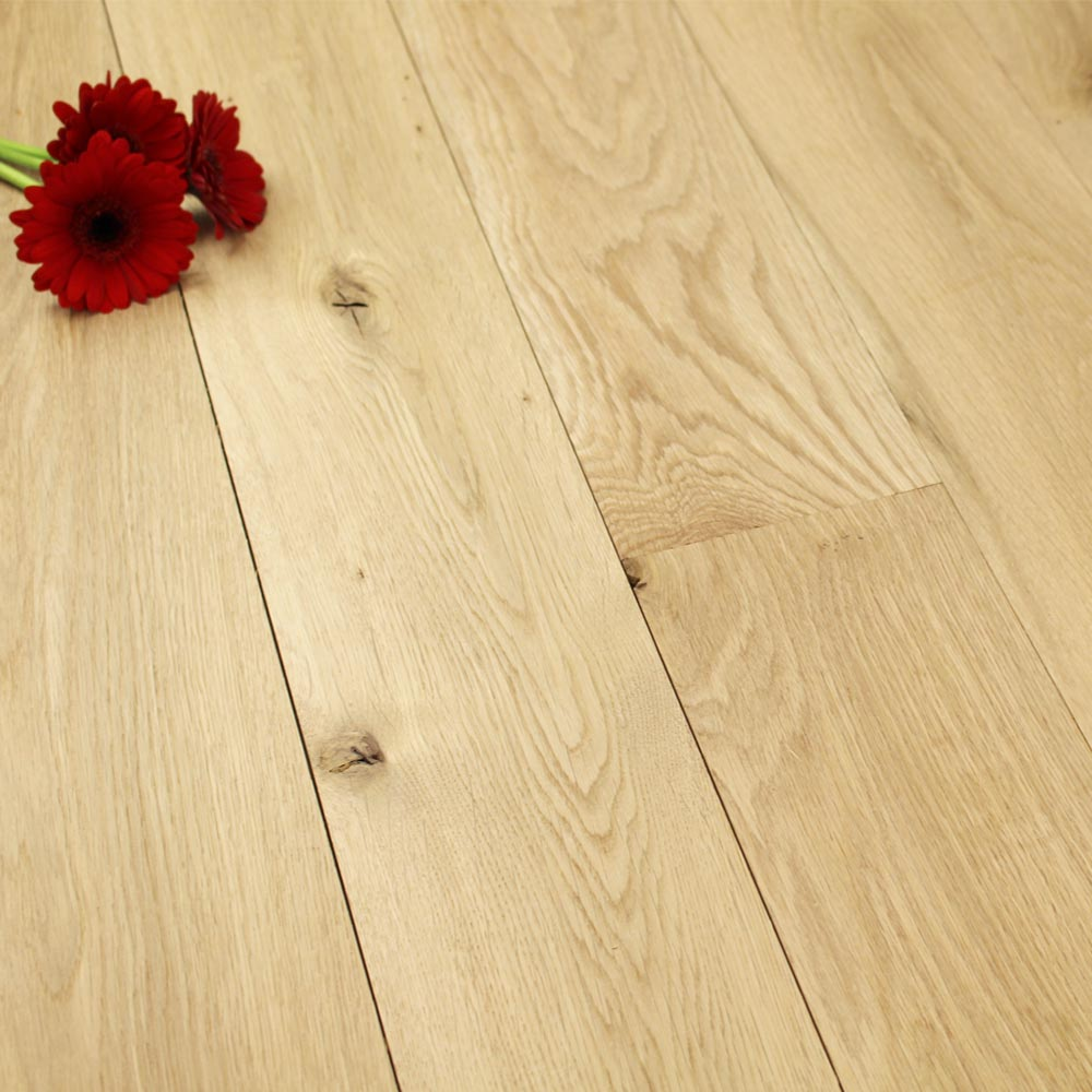 140mm unfinished natural solid oak wood flooring 1m 20mm s for Real oak hardwood flooring
