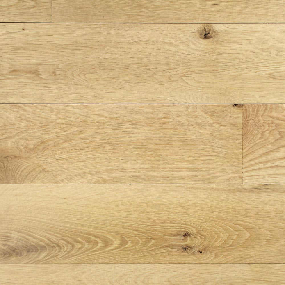 ... 140mm Unfinished Natural Solid Oak Wood Flooring 1m²   3 ...