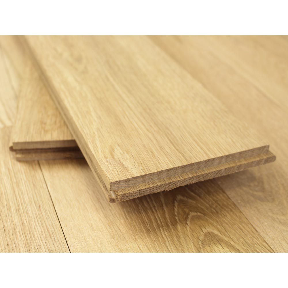 140mm unfinished natural solid oak wood flooring 1m 20mm s for Unfinished oak flooring