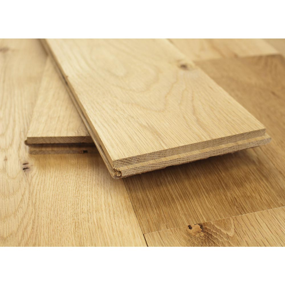150mm Unfinished Natural Solid Oak Wood Flooring 1m 20mm S