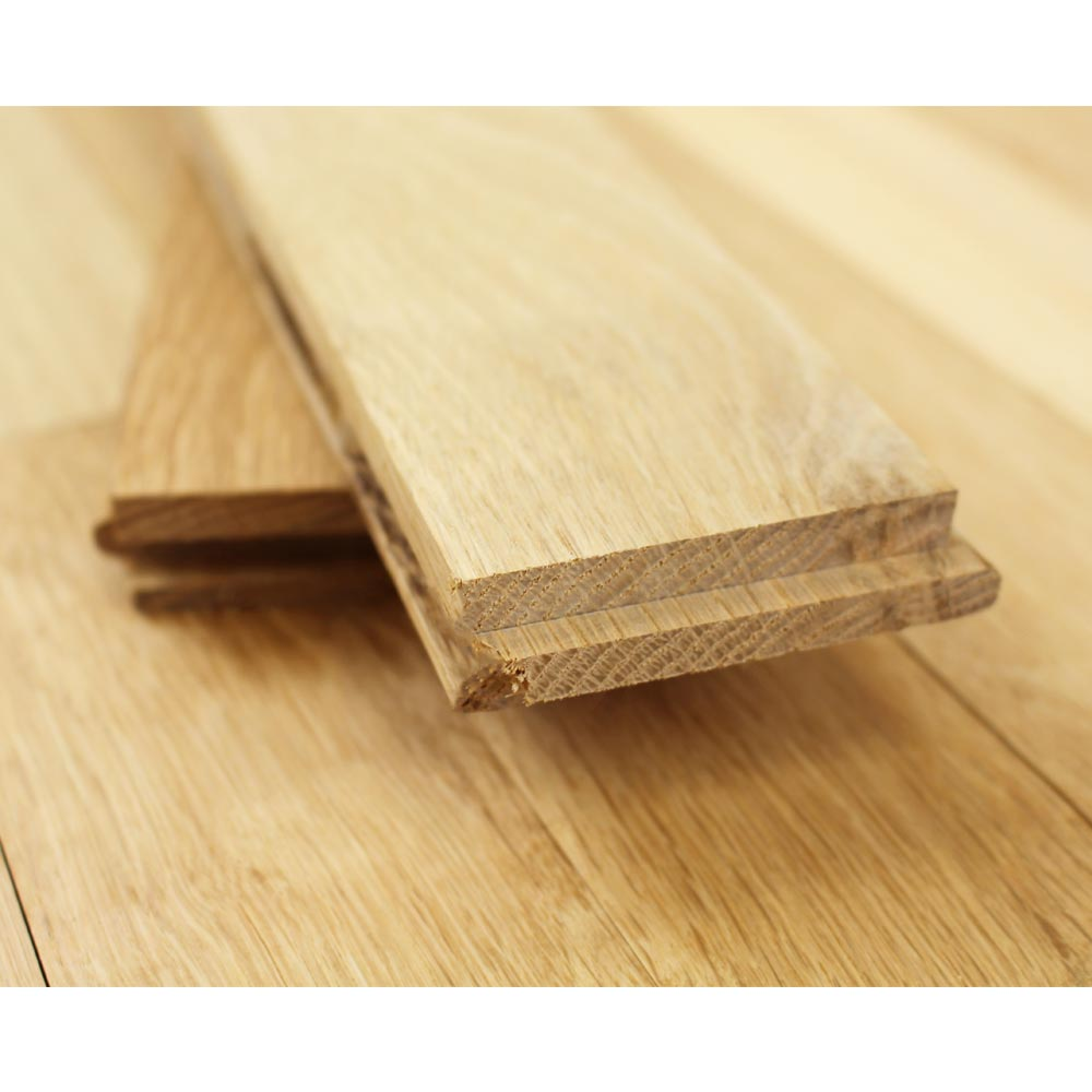63mm Unfinished Prime Solid Oak Wood Flooring 20mm Solid Wo