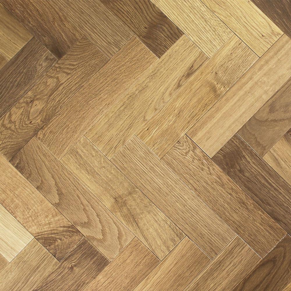Engineered Oiled Light Smoked Oak Parquet Block Wood Flooring 0 588m²